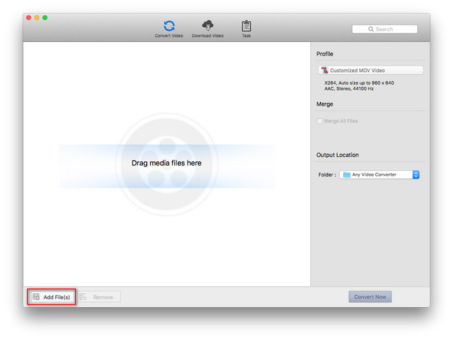Add videos to Any Video Converter Mac