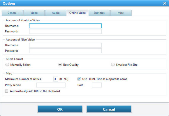 online video option